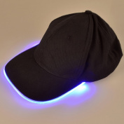 Fashion & Cool LED Baseball Cap Light Up Hat Sports Travel Party Club Cap with LED Light Brim and Adjustable Hook and loop, Come with Batteries