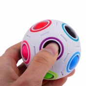 Malltop Anxiety Stress Relief Focus Rainbow Magic Ball Plastic Cube Twist Puzzle Toys