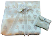 First Communion Satin Girls White Ivory Purse with Matching Change or Rosary Bag