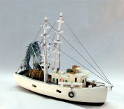 Nautical Shrimp Boat 30cm Wood New