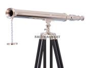 Nauticalmart Floor Standing Chrome Harbour Master Telescope 150cm