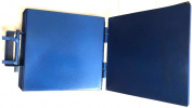 Made in Mexico Blue Manual Flower/Corn All Metal Tortilla Maker Press 25cm x 25cm Square