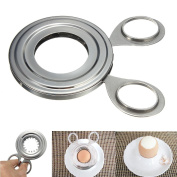 NeeJee Stainless Steel Egg Cutter Cooked Egg Topper Clipper Scissor Kitchen Gadgets Cook Tool