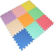 9 Piece Interlocking EVA Foam Activity Play Kids Baby Soft Mat Tiles Set