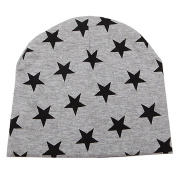 Bodhi2000 Baby Kids Girl Boy Cotton Blend Hat Star Pattern Knit Beanie Cap