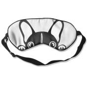 Sleeping Eye Mask Cute Baby French Bulldog Gift Natural Silk Eye Mask Cover With Adjustable Strap