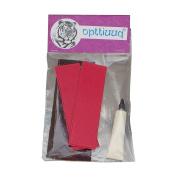 Opttiuuq FrontFoot Cricket Bat Toe Guard Set. Repair Kit Includes Fixing Instructions - Fluo Red