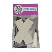 Opttiuuq FrontFoot Cricket Bat Toe Guard Set. Repair Kit Includes Fixing Instructions - White.