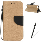 Wiko Lenny 3 Case,MAGQI Premium Soft PU Leather Slim Fit Notebook Wallet Case Luxury Retro Two-Colour Design [Kickstand] Stand Function Card Slots & Holder Magnetic Flip Protective Skin Full Body Protection Cover with Detachable Hand Strap + Free Stylu ..