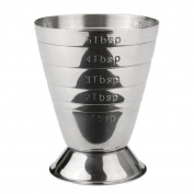 Stainless Steel Measuring Shot Cup, Bar Cocktail Jigger Measure, Drink Liquor Measuring Cup Bar Kitchen Measuring Tool