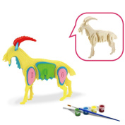 3D Wooden Puzzle, ESOOR Woodcraft 3D Puzzle Assemble and Paint DIY Toy Kit, Sheep