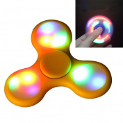 LED Light Tri Fidget Spinner EDC ADHD Focus Toy Ultra Durable High Speed Hybrid Ceramic Bearing 1-3 Min Spins Non-3D Printed