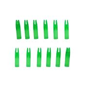 Safari Choice Female Arrow Nocks Inserts 6mm, Transparent Green, 12pc