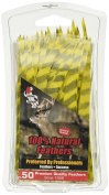 Gateway Feathers 13cm Parabolic Barred - 5 RW (Pack of 50), Yellow