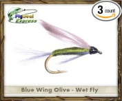 Fly Fishing Flies - BLUE WING OLIVE WET FLY - Wet Fly