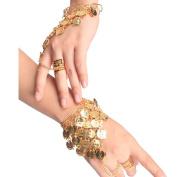 HugeStore Women Ladies Belly Dance Gypsy Jewellery Triangle Coin Bracelet Wrist Bangle Ring