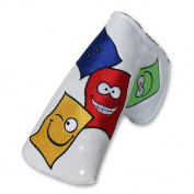 Craftsman Golf Colourful Cartoon Rectangle Smile Face Golf Putter Club Head Cover Headcover for Scotty Cameron Odyssey Blade Callaway Taylormade Titleist Ping Mizuno Blade