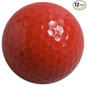 Coloured Golf Balls, (Pack of 12 Balls) Plain, NON-Printed