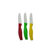 Kitchen Collection Set of 3 Ceramic Paring Knives 8.9cm Blade Assorted Colours 06051