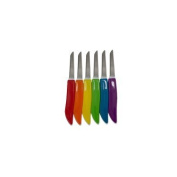 Kitchen Collection Set of 6 Assorted Colour Stainless Steel Paring Knives 06413