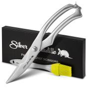 Chefs Grade Sharp Poultry Scissors & Silicone Brush Set