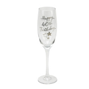 Oaktree Gifts Birthday 40th Champagne Flute