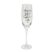 Oaktree Gifts Birthday 21st Champagne Flute