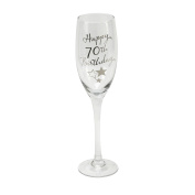 Oaktree Gifts Birthday 70th Champagne Flute