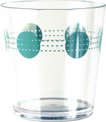 Corelle Coordinates by Reston Lloyd Acrylic South Beach Rock Glasses (Set of 6), 410ml, Clear