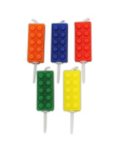 Block Party Building Block Pick Candles. 5 Candles