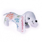 Plush autograph signature dog toy for graduation school college memory gift 25cm
