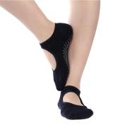 Women's Yoga Grip Socks for Barre Pilates Ballet Dance Non Slip Skid Cotton Ankle Sport Toe Socks
