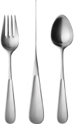 George Jensen Matt Finish Children's Cutlery, Stainless Steel, 3-Piece