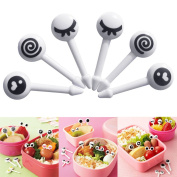 Maphissus 10 Pieces Fruit Picks Cute Eye Mini Food Fruit Picks Baby Kid Forks Bento Lunch Box Tool Tableware