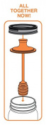jarware Honey Dipper Honey Spoon, Orange