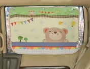 tokkids – Tendon Side Sunshade for Car, Blocks 99% of the Solar Rays, Protects the Eyes and the skin of children, Adjustable Size, 70 * 50 CM WITH BEAR DESIGN