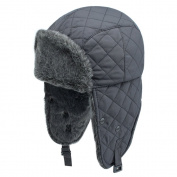 Dolida Unisex Outdoor Winter Trooper Trapper Hat Hunting Hat Ushanka Russian Hat with Ear Flap Chin Strap and Windproof Mask for Fishing Hiking Garden Work Skiing Snowboarding Outdoor Activities Black
