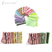 """RayLineDo 20Pcs Different Pattern Pink and Green Series 100% Cotton Poplin Fabric Fat Quarter Bundle 18"""" x 22"""" Patchwork Quilting Fabric With 15pcs 2025cm Mixed Squares Bundle Thin Cotton Fabric"""