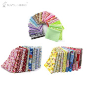 """RayLineDo 20Pcs Different Pattern Multi Colour Cotton Poplin Fabric Fat Quarter Bundle 18"""" x 22"""" Quilting Fabric With 15pcs 2025cm Fabric Patchwork Craft Cotton Mixed Squares Thin Fabric"""