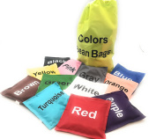 Colours Bean Bags Assorted 12 pc 13cm in by Oojami