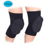Laxuri R990 (1Pair)Thick Sponge Adult Volleyball Knee Pads Guard Brace,Elastic Durable Pain Relief ,Superior Protective for Skating, Skiing, Snowboarding and Football...