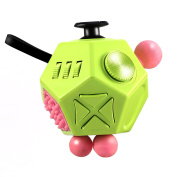 LESHP 12 Sides Fidget Toy Relieves Stress And Anxiety Magic Cube Box for Children and Adults Anxiety Attention Toy