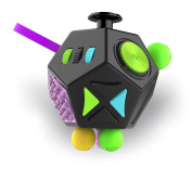 Fidget Dodecagon –12 Side Fidget Toy Cube Relieves Stress and Anxiety Anti depression cube for Children and Adults with ADHD ADD OCD Autism