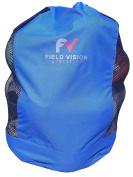 Mesh/ Polyester Multi-Purpose Ball Storage Bag Heavy Duty Durable Sporting Goods Equipment Carrier Draw String and Custom-Widened Shoulder Strap Holds 12+ Soccer Balls 10+ Basketballs 18+ Footballs