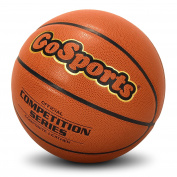 GoSports Indoor/Outdoor Synthetic Leather Competition Basketball with Pump - Size 6