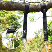 Tree Swing & Hammock Hanging Kit Straps -Two 1.5m Straps Holds 1000kg. -Attaches 2 Heavy Duty Carabiners Hook, Easy & Fast Swing Hanger Installation,No Stretching- . Swing Rope & Chain!