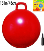 Space Hopper Ball with Pump, 18in/45cm Diameter for Ages 3-6, Hop Ball, Kangaroo Bouncer, Hoppity Hop