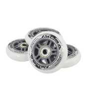 4x + for Leisure Skating PU 80 mm/82 A Inline Wheels Abec 5 Bearings 8 pieces Nils