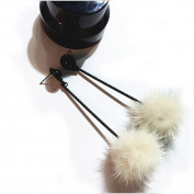 Flee Fur Fuzzy Studs Dangling Drop Earrings