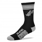 For Bare Feet NBA 4 Stripe Deuce Crew Youth Socks